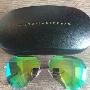 Victoria Beckham Mirror Sunglasses - Green Cactus